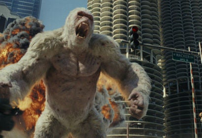 "A scene from the movie ""Rampage"""