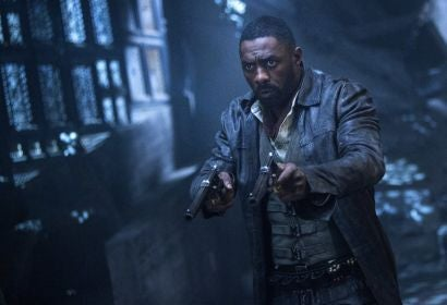 "Idris Elba ina scene from ""The Dark Tower"""
