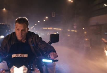 "Actor Matt Damon, Golden Globe winner, in a scene from ""Jason Bourne"""
