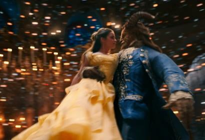 A scene from the live action movie Beauty and the Beast