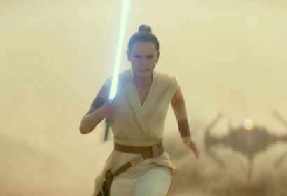 "Daisy Ridley in a scene from ""Rise of Skywalker"", 2019"