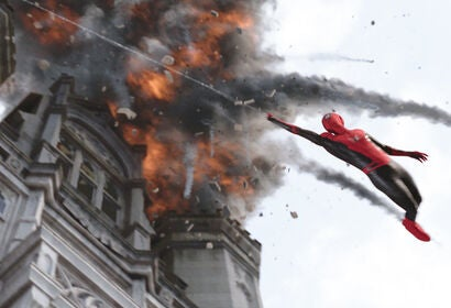 "A scene from ""Spider Man Far From Home"", 2019"