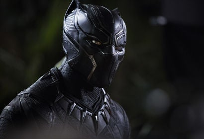 "Chadwick Boseman in a scene from ""Black Panther"""