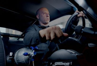 """Actor Vin Diesel in a scene from """"The Fate of the Furious"""""""
