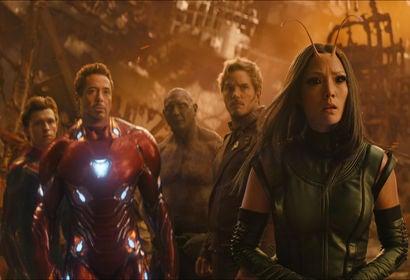 """A  scene fom """"Avegers, Infinity War"""""""