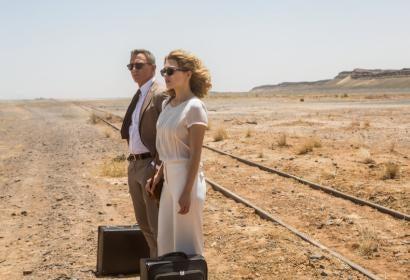 Lea Seydoux and Daniel Craig in Spectre