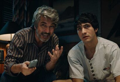 "Ricardo Darín and Chino Darín in ""Heroic Losers"" (2019)"