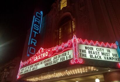 Marquee of teh Noir festival 2020 in San Francisco