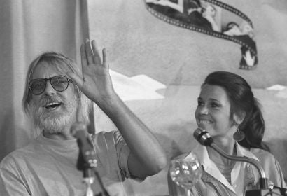Jane Fonda and director Hal Ashby in Cannes 1978