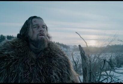 Leonardo di Caprio in a scene from The Revenant, 2015