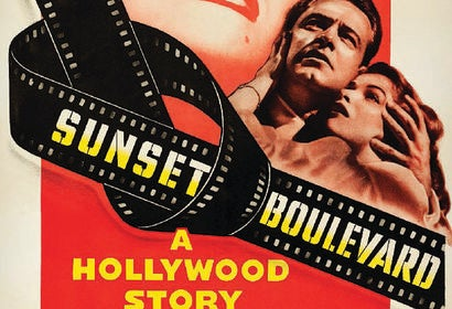 "Poster for the Golden Globe winning film ""Sunset Boulevard"""