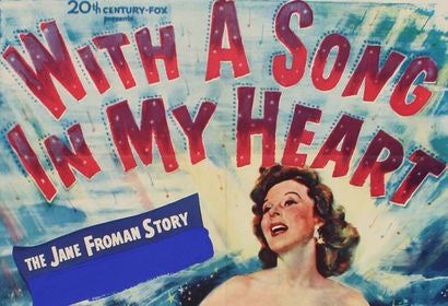 With a Song in My Heart movie poster