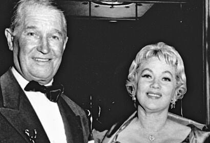 Actors Maurice Chevalier and Ann Sothern, Golden Globes 1959