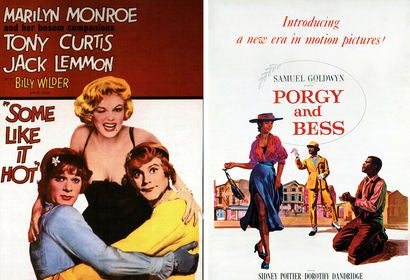 "Movie posters: ""Some Like It Hot"" and ""Porgy and Bess"""