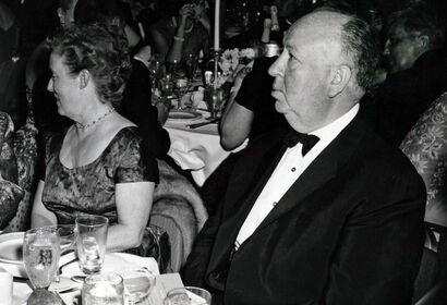 Filmmaker Alfred Hitchcock at the Golden Globes, 1960s