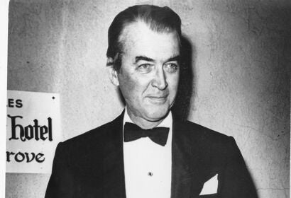 James Stewart at the 1965 Golden Globes wity his Cecil B. deMille award