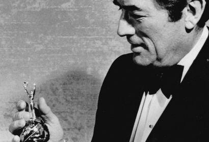 Actor Gregory Peck, Golden Globe winner, Cecil B. deMille recipient