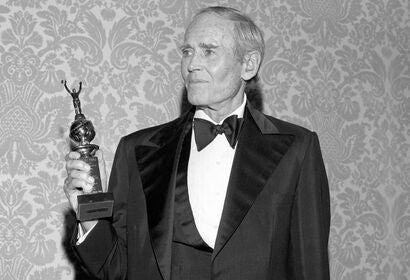 Actor Henry Fonda, Golden Globe winner and Cecil B.deMille recipient