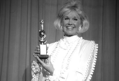 Actress and singer Doris Day, Golden Globe winner, Cecil B. deMille recipient