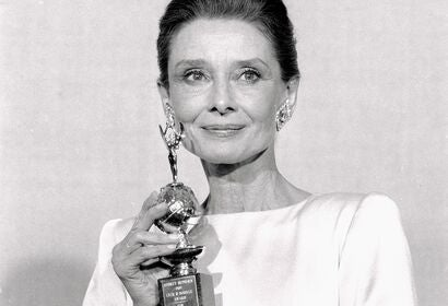 Actress Audrey Hepburn, Golden Globe winner, Cecil B. deMille award recipient
