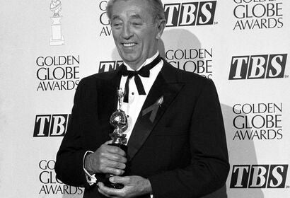 Actor Robert Mitchum, Cecil B. deMille award recipient