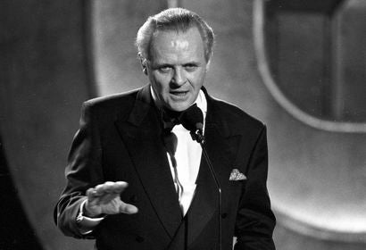 Actor Anthony Hopkins, Golden Globe winner