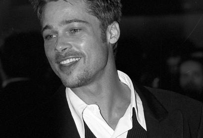 Brad Pitt, Golden Globe winner, in 1995