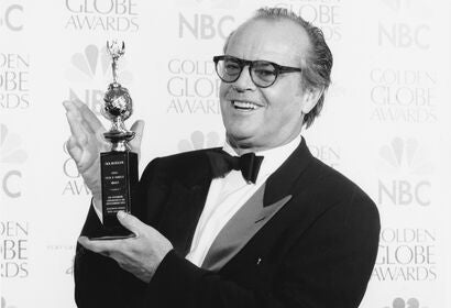 Actor and direcor Jack Nicholson, Golden Globe winner and Cecil B. deMille recipient