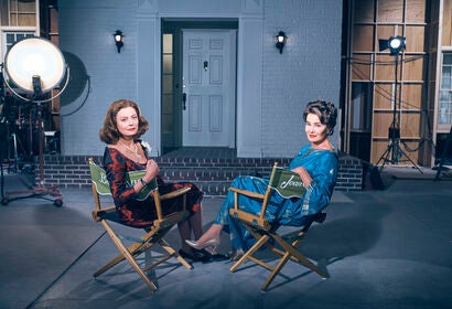 Golden Globe winners Susan Sarandon and Jessica Lange on set of the TV series Feud
