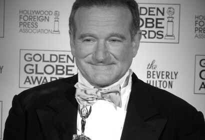 Actor Robin Williams, Golden Gloeb winner and Cecil B.deMille recipient, 2005