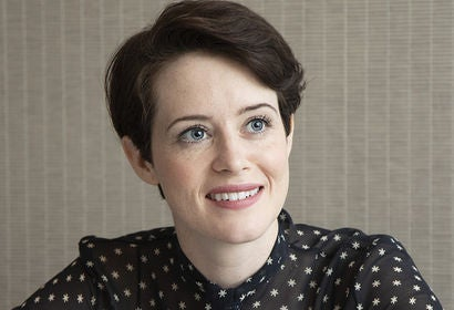 Actress Claire Foy, Golden Globe winner