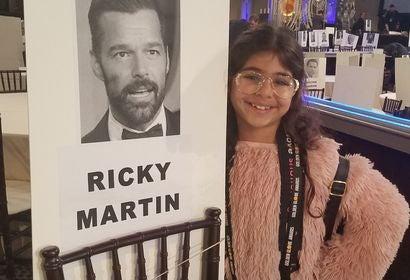 Yasmine, a Pablolove Shutterbug, at the Golden Globes 2019