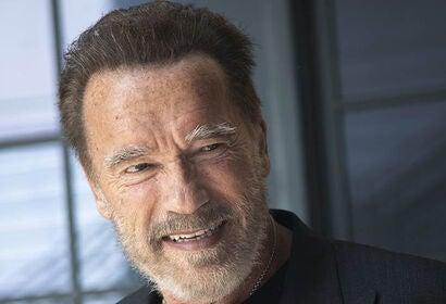 Actor Arnold Schwatzenegger, Golden Globe winner