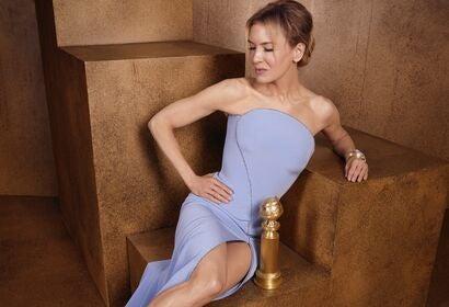 Actress Renee Zelwegger, Golden Globe winner