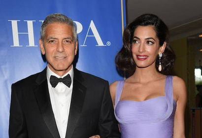 George and Amal Clooney at Venice 2017, HFPA reception