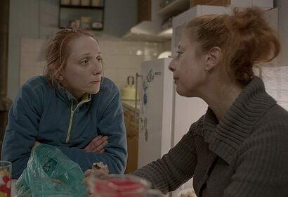"""Kasiel Noah Asher and Martina Apostolova in """"Irina"""" (2018)"""