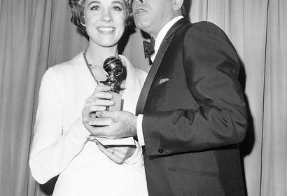 Jerry Lewis, Golden Globe nominee, and Julie Andrews, Golden Globe winner, 1966