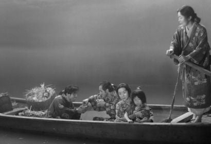 "A scene from the classic japanese film ""Ugetsu"", restored with funds from the HFPA"