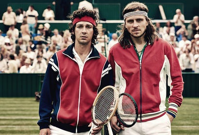 "Shia LaBeouf and Sverrir Gudnason in ""Borg vs. McEnroe"" (2017)"