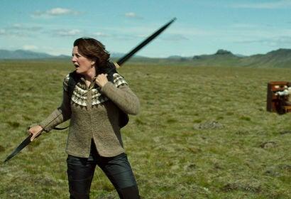 "Halldóra Geirharðsdóttir in ""Woman at War"" (2018)"