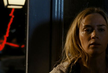 "Emily Blunt in a scene from ""A Quiet Place"""