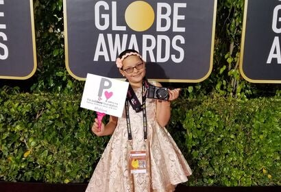 Meet Addison Rivera, teh Pablove Shutterbug  at the 2020 Golden Globes