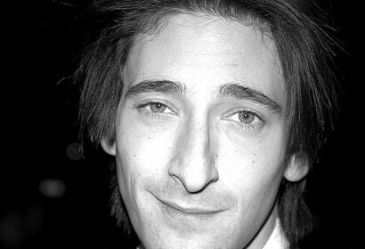 Actor Adrien Brody, Golden Globe nominee at the premiere of The Pianist, 2002