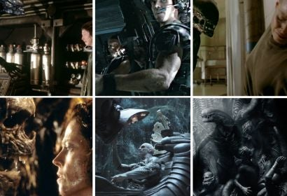 "Scenes from all the ""Alien"" movies"