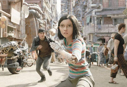 "Rosa Salazar and Keean Johnson in ""Alita: Battle Angel"" (2019)"