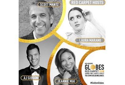 Scott Mantz, Laura Marano, AJ Gibson and Jeannie Mai