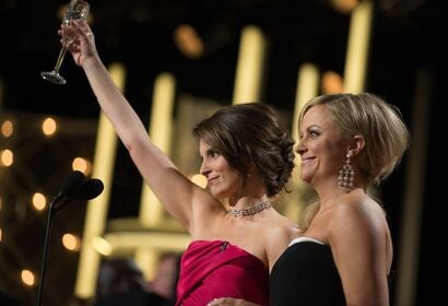 Amy Poehler and Tina Fey