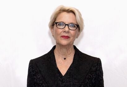 Actress Annette Bening, Golden Globe winner
