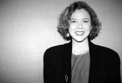 Actress Annette Bening, Golden Globe nominee, in 1991