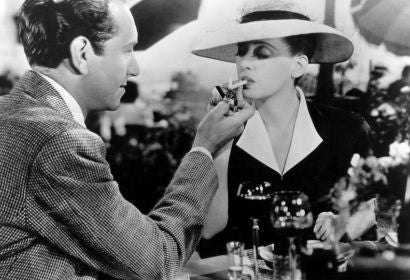 "A scene from ""Now Voyager"" with Bette Davis and Paul Henreid"